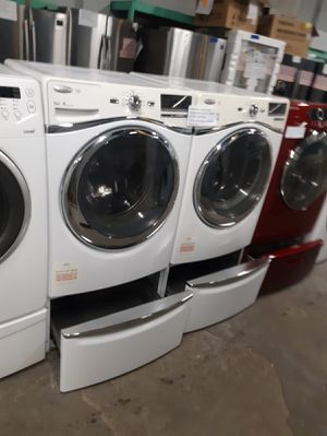 WHIRLPOOL FRONT LOAD WASHER AND DRYER SET WORKING PERFECTLY 4 MONTHS WARRANTY DELIVERY AVAILABLE for Sale in Baltimore, MD