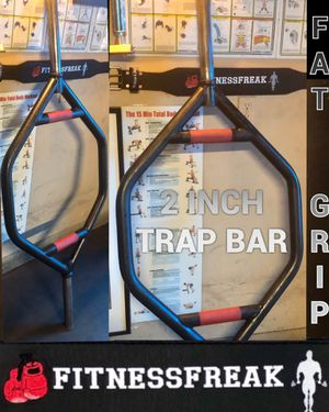 2 INCH - STRONG MAN- TRAP/HEX OLYMPIC WEIGHT WEIGHT BAR WITH COLLARS!! for Sale in El Cajon, CA