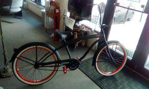 """*SIKK* Black Frame W/ Red Trim Cruiser Bike W/26"""" Tires & Ape Hanger Handle Bars for Sale in Largo, FL"""