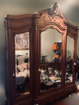 Antique French Mirrored Armoire for Sale in Atlanta, GA