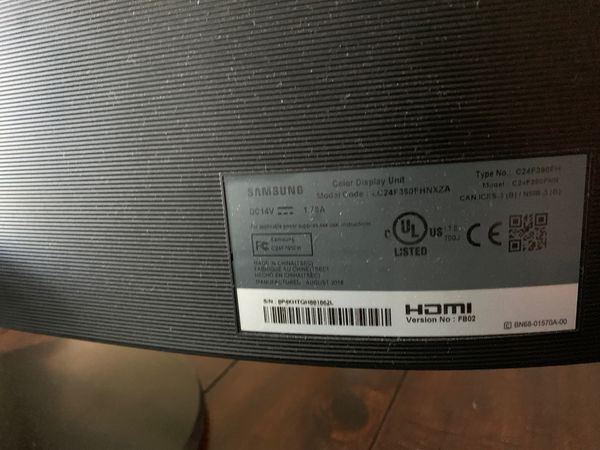 Samsung HD curved monitor c24f390fhn