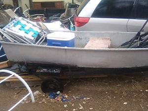 Sears Fishing Boat w trailer PRICE IS RIGHT! for Sale in Norco, CA