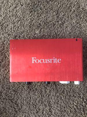 Scarlett 2i2 focusrite audio interface for Sale in Tacoma, WA