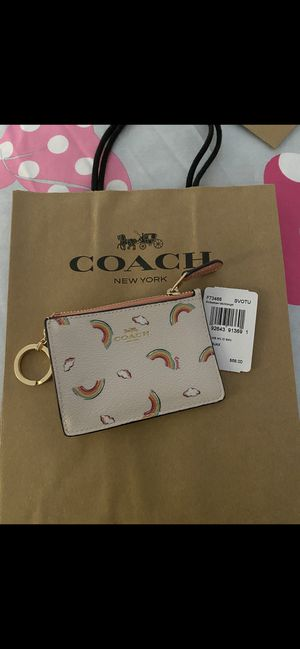Coach coinpurse zip w card holder for Sale in Ontario, CA