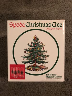 Spode Christmas Tree Highball Glasses for Sale in Salinas, CA
