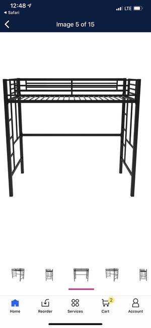 Black metal loft bed frame for Sale in New Castle, PA
