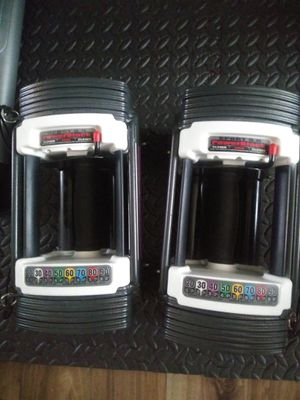 Adjustable powerblock dumbell weights for Sale in West Linn, OR