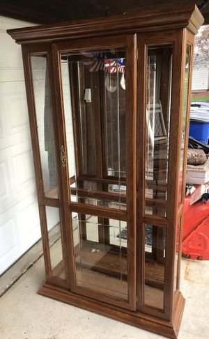 Lighted Oak Curio Cabinets for Sale in Broadview Heights, OH