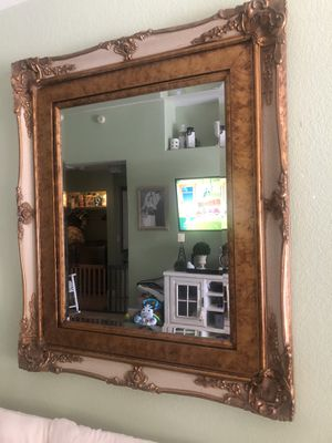 Mirror, Hanging Mirror, Gold wall mirror for Sale in Las Vegas, NV