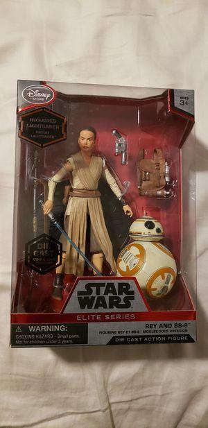 Disney Store Star Wars Elite Series Rey (w/ Lightsaber) & BB-8 for Sale in Peoria, AZ