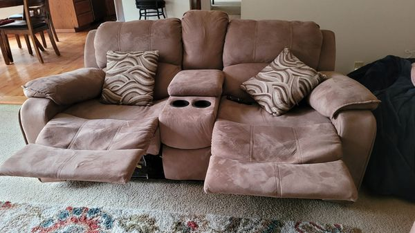 Light Brown Reclining Sofa Set