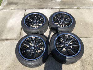 Asanti black label rims with Milestar tires for Sale in Miami Gardens, FL