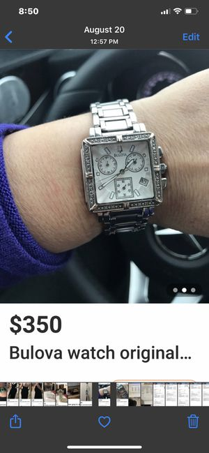 Bulova watch original for Sale in Hasbrouck Heights, NJ
