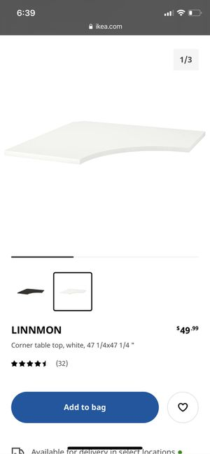 IKEA Linnmon Corner Desk Table Top for Sale in San Diego, CA