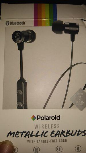 Polaroid wireless metallic earbuds for Sale in Ellenwood, GA