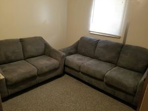 Ashley couch and loveseat for sale great condition, from a non-smoking no pet house. Was $375 now 375 for the pair. for Sale in Newburgh, IN
