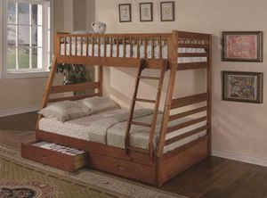 Brand New Twin/Full Bunk Bed with Storage for Sale in Austin, TX