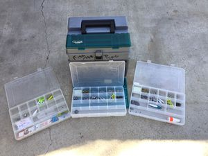 Fishing PLANO tackle box with gear for Sale in Jurupa Valley, CA