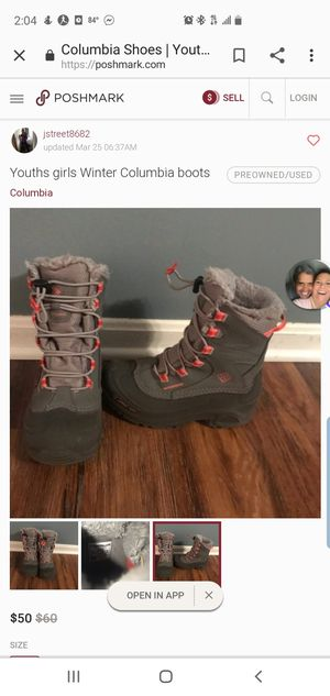 Columbia girl winter boots sz 12 for Sale in Overland Park, KS