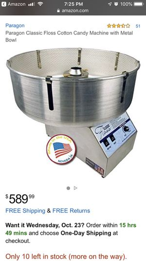 Paragon classic floss cotton candy machine for Sale in Bell Gardens, CA