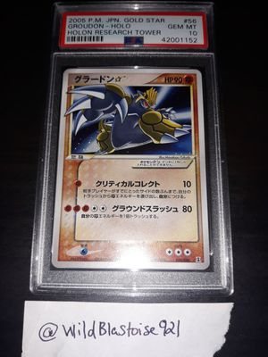Pokemon Shiny Shining Groudon GOLDSTAR Japanese Holon Research Tower PSA10 GEM MINT for Sale in Queens, NY