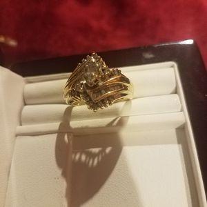 14 carat diamond wedding set for Sale in Las Vegas, NV