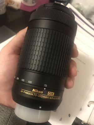 Nikon 70-300mm DX lense for Sale in Adelphi, MD
