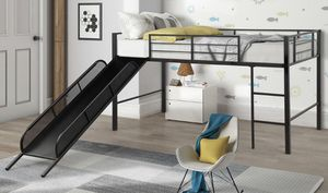 Twin bed (Metal Bed with slides) for Sale in Banning, CA