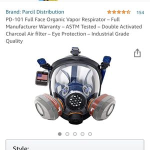 Brand New Full Face Vapor Respirator for Sale in Indianapolis, IN