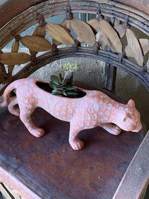 Leopard planter with live succulent for Sale in Phoenix, AZ