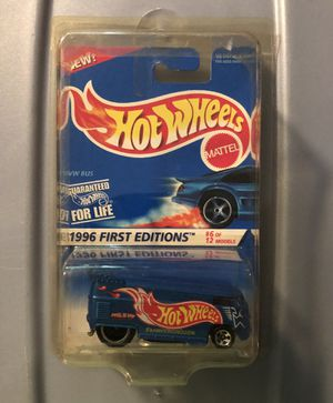 1996 1st Edition VW Bus #6 of 12. Hot Wheels new on card. In sealed case. for Sale in Auburn, WA