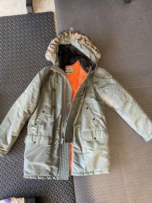Vintage L.L. Bean Mens Parka Jacket Fur Hood Medium for Sale in San Diego, CA