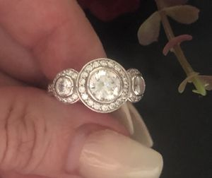 Size 8 sterling silver ring Austrian stones for Sale in Denver, CO