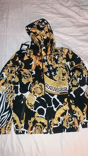 Mens Hooded Jacket Baroque print Size XL for Sale in Las Vegas, NV