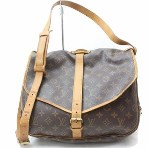 Authentic Louis Vuitton Saumur35 M42254 Brown Monogram Shoulder Bag 11337 for Sale in Plano, TX