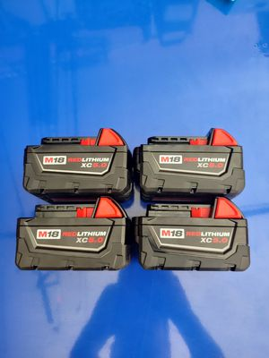Milwaukee m18 5.0 batteries for Sale in New Port Richey, FL