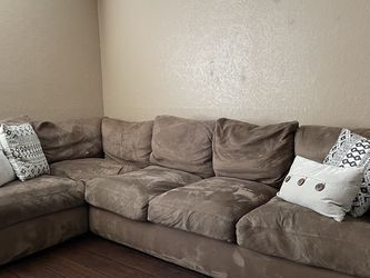 Microfiber Couch Sectional Down Feather Pillow Backs for Sale in Mission Viejo,  CA
