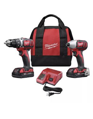 Milwaukee 269122 M18 18V Lithium-Ion 1/2 in. Drill Driver and 1/4 in. Impact Driver High Performance Combo Kit for Sale in US