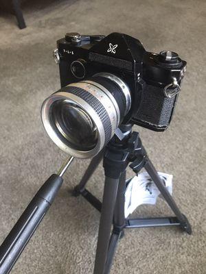 T l S Camera With Proline Tripod Film Camera Auto rewinding for Sale in Sacramento, CA