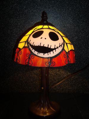VHTF Nightmare before christmas jack Skellington tiffany style lamp disney neca for Sale in Ontario, CA