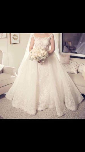 Fancy wedding dress size 6 ( customized) for Sale in El Cajon, CA