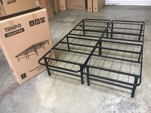 Tempo Collection 14in High Profile Platform Smart Base Bed Frame, Queen Size for Sale in Santa Ana, CA
