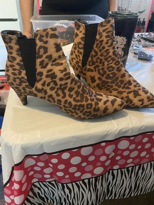 Boots booties leopard for Sale in Morrisville, PA