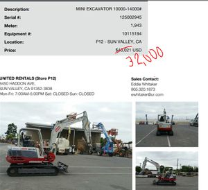 Guys on sale!!!! Mini excavator 10,000-14,000 for Sale in Montebello, CA