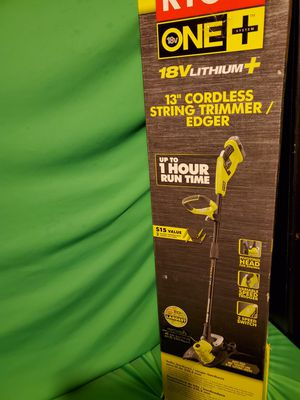 "RYOBI ONE + 18V 13"" CORDLESS STRING TRIMMER/EDGER for Sale in Beaumont, CA"