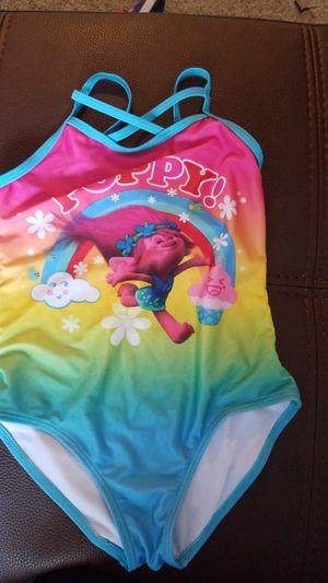 Girls Trolls Poppy swimsuit 7/8 for Sale in West Bloomfield Township, MI