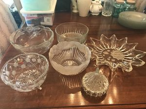 Crystal and Glass Bowls for Sale in Marshall, VA