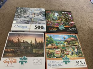 8 puzzles 500 piece for Sale in Graham, WA