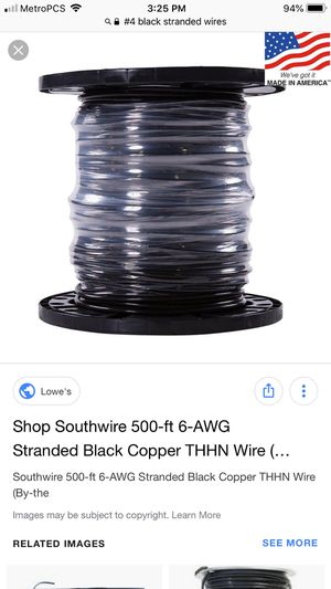 # 4 stranded wires 500 ft for Sale in Hialeah, FL