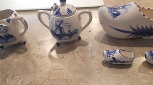 Enesco vintage hand painted tea set with tray for Sale in Glendale, AZ
